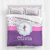 Golly Girls: Fun-Filled Hearts Personalized Dance Comforter Or Set
