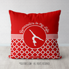 Red Quatrefoil Gymnastics is my Life Throw Pillow