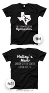 Golly Girls: Personalized One Team Gymnastics T-Shirt (Youth-Adult)