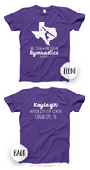 Golly Girls: Personalized One Team Gymnastics Purple T-Shirt (Youth & Adult Sizes)