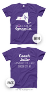 Golly Girls: Personalized Our Hearts Team Gymnastics T-Shirt (Youth-Adult)