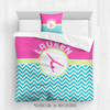Golly Girls: Personalized Gymnastics Multi-Chevron Comforter or Set