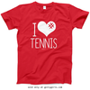 Golly Girls: I Hashtag Heart Tennis T-Shirt (Youth & Adult Sizes)