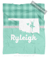 Golly Girls: Personalized Hometown Charm Mint Dance Fleece Throw Blanket