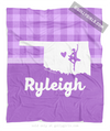 Golly Girls: Personalized Hometown Charm Purple Dance Fleece Throw Blanket
