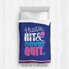 Golly Girls: Hustle Hit Never Quit Blue Softball Comforter