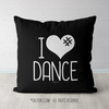 I Hashtag Heart Dance Black Throw Pillow - Golly Girls