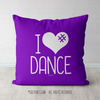 I Hashtag Heart Dance Purple Throw Pillow - Golly Girls