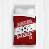 Golly Girls: Personalized Jersey Style Name Plus Number Red Soccer Twin Comforter
