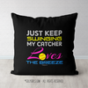 Just Keep Swinging Softball Throw Pillow - Golly Girls