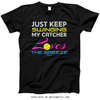 Golly Girls: Just Keep Swinging Softball Black T-Shirt (Youth & Adult Sizes)