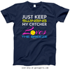 Golly Girls: Just Keep Swinging Softball Navy T-Shirt (Youth & Adult Sizes)
