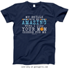 Golly Girls: Your Mom Cheers For Me Basketball Navy T-Shirt (Youth & Adult Sizes)