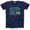 Golly Girls: Your Mom Cheers For Me Softball Navy T-Shirt (Youth & Adult Sizes)