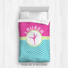 Golly Girls: Personalized Dance Multi-Chevron Twin Comforter