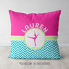 Personalized Multi-Color Chevron Dance Throw Pillow