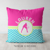 Personalized Multi-Color Chevron Tennis Throw Pillow