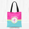 Golly Girls: Personalized Multi-Color Chevron Dance Tote Bag