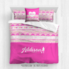 Golly Girls: My Heart Beats Personalized Basketball Queen Comforter Plus Sham Plus Pillow