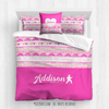 Golly Girls: My Heart Beats Personalized Karate Queen Comforter Plus Sham Plus Pillow