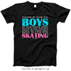 Golly Girls: No Room For Boys Skating T-Shirt (Youth-Adult)