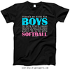 Golly Girls: No Room For Boys Softball Black T-Shirt (Youth & Adult Sizes)