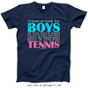 Golly Girls: No Room For Boys Tennis Navy T-Shirt (Youth & Adult Sizes)