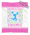 Golly Girls: Personalized Pastel Cheerleading Typography Fleece Throw Blanket