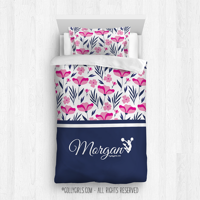 Golly Girls: Tropical Flowers Personalized Cheer Comforter Plus Sham
