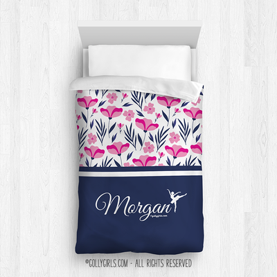 Golly Girls: Tropical Flowers Personalized Dance Comforter Or Set