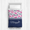 Golly Girls: Tropical Flowers Personalized Gymnastics Twin Comforter