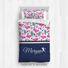 Golly Girls: Tropical Flowers Personalized Softball Comforter Or Set