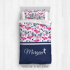 Golly Girls: Tropical Flowers Personalized Volleyball Comforter Or Set