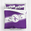 Golly Girls: Purple Jersey Style Gymnastics Queen Comforter Plus Sham
