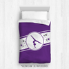 Golly Girls: Purple Jersey Style Gymnastics Twin Comforter