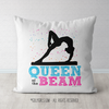 Queen of the Beam Gymnastics Themed Throw Pillow - Golly Girls