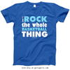 Golly Girls: I Rock The Whole Basketball Thing Royal T-Shirt (Youth & Adult Sizes)