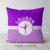 Personalized Simple Purple Chevron Dance Throw Pillow