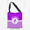 Personalized Simple Purple Chevron Basketball Shoulder Tote Bag