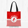 Personalized Chevron Basketball Tote Bag - Golly Girls