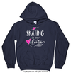 Golly Girls: Skating is My Valentine Navy Hoodie (Youth & Adult Sizes)