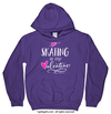 Golly Girls: Skating is My Valentine Purple Hoodie (Youth & Adult Sizes)