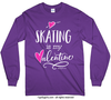 Golly Girls: Skating is My Valentine Long Sleeve T-Shirt (Youth-Adult)