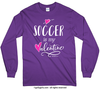 Golly Girls: Soccer is My Valentine Purple Long Sleeve T-Shirt (Youth & Adult Sizes)