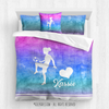 Golly Girls: Forever Love Soccer Personalized Comforter Or Set