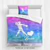Golly Girls: Forever Love Softball Personalized Comforter Or Set
