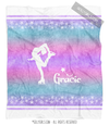 Starry Sky Personalized Figure Skating Fleece Throw Blanket - Golly Girls