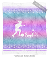 Starry Sky Personalized Soccer Fleece Throw Blanket