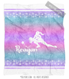 Starry Sky Personalized Volleyball Fleece Throw Blanket