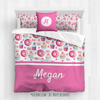 Golly Girls: Yum! Sweet Treats Personalized Queen Comforter Plus Sham Plus Pillow